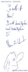 2014-10-21 Mucsi Zoltán bejegyzése a KultúrFaló vendégkönyvébe